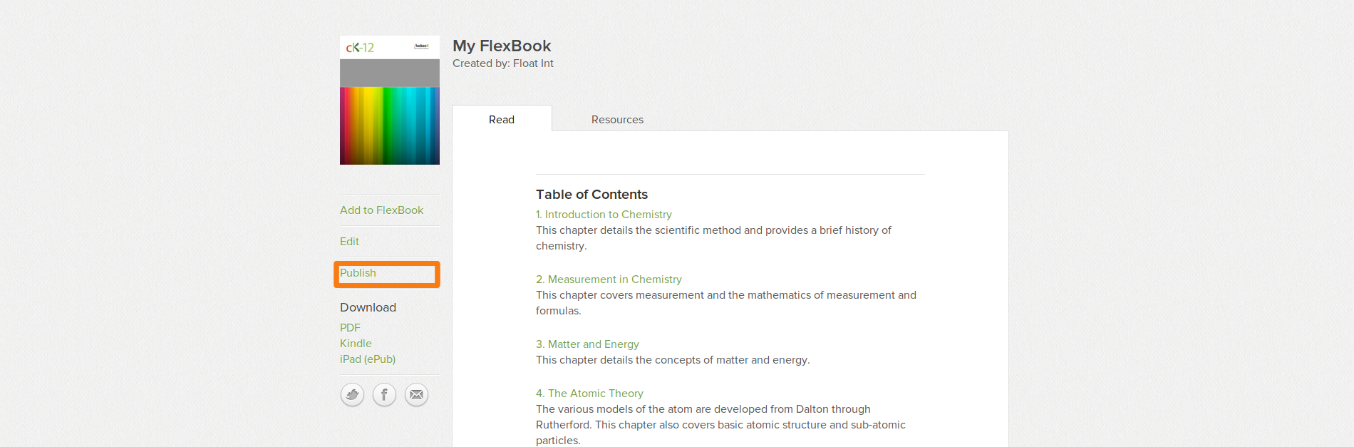 Publish FlexBook